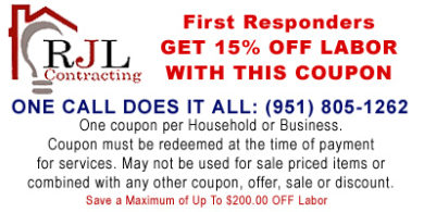 First Responder Electrician Service Coupon