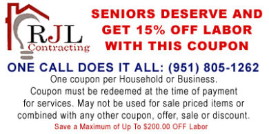 15% Off Labor for Seniors